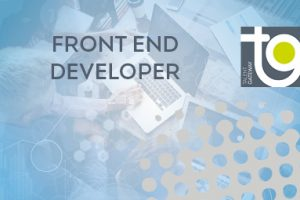 Front End Developer text in grey